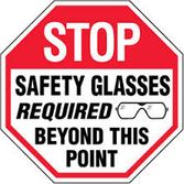 Stop safety glasses required